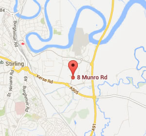 google maps - 8 Munro Road Springkerse Industrial Estate, Stirling, Scotland, FK7 7UU